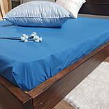 Простирадло на гумці з Бязі Голд - Колір синій - 90х200 см, фото 4