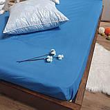 Простирадло на гумці з Бязі Голд - Колір синій - 90х200 см, фото 6