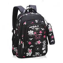 Школьный рюкзак с пеналом, портфель для девочки 3-4-5-6 класс (9-10-11-12 лет)