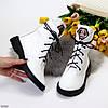 Эффектные модельные белые женские ботинки из натуральной кожи флотар низкий ход