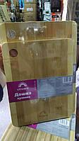 Дошка кухонна прямокутна бамбук 33х24х1,2см. Vincent 2102-33
