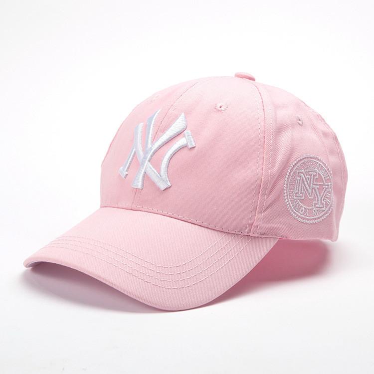 Кепка бейсболка NY (Нью-Йорк) Розовая 2, Унисекс