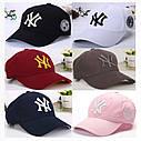 Кепка бейсболка NY (Нью-Йорк) Розовая 2, Унисекс, фото 2