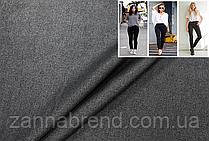 Однотонная джинсовая ткань черного цвета