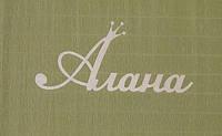 Имя АЛАНА (с коронкой) заготовка для декора