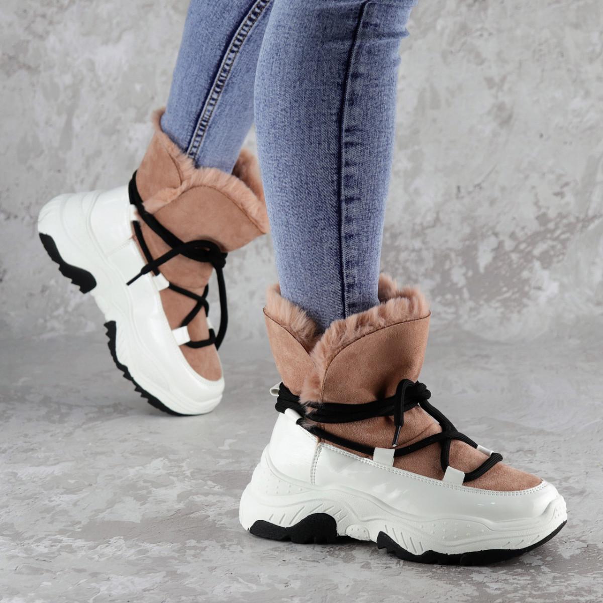 Ботинки женские зимние Fashion Freddy 2274 37 размер 23,5 см Розовый