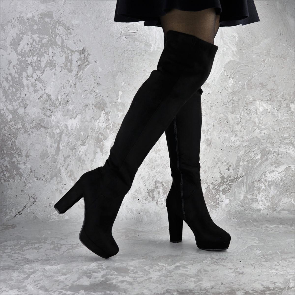 Ботфорты женские Fashion Jezebel 2351 37 размер 24 см Черный