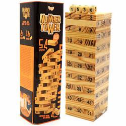 Настольная игра башня Vega (Вега) по номерам. Версия игры Дженга (Jenga) NT-01U