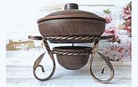 """Садж для подачі гарячих страв """"Сімейний"""", з глиняним посудом в комплекті (20см)"""