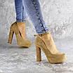 Туфли женские на каблуках Fashion Rich 1241 38 размер 24,5 см Бежевый, фото 3