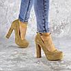 Туфли женские на каблуках Fashion Rich 1241 38 размер 24,5 см Бежевый, фото 4