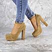 Туфли женские на каблуках Fashion Rich 1241 38 размер 24,5 см Бежевый, фото 6