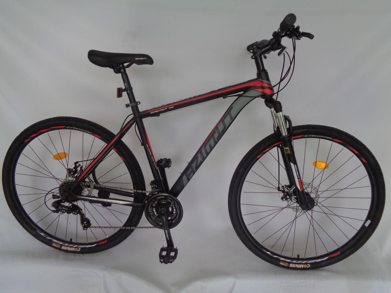 Спортивный горный велосипед 26 дюймов Azimut 40D D черно-красно-серый