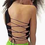 Жіночий топ на одне плече зі шнурівкою на спині (р. 42-44) 8317396, фото 8