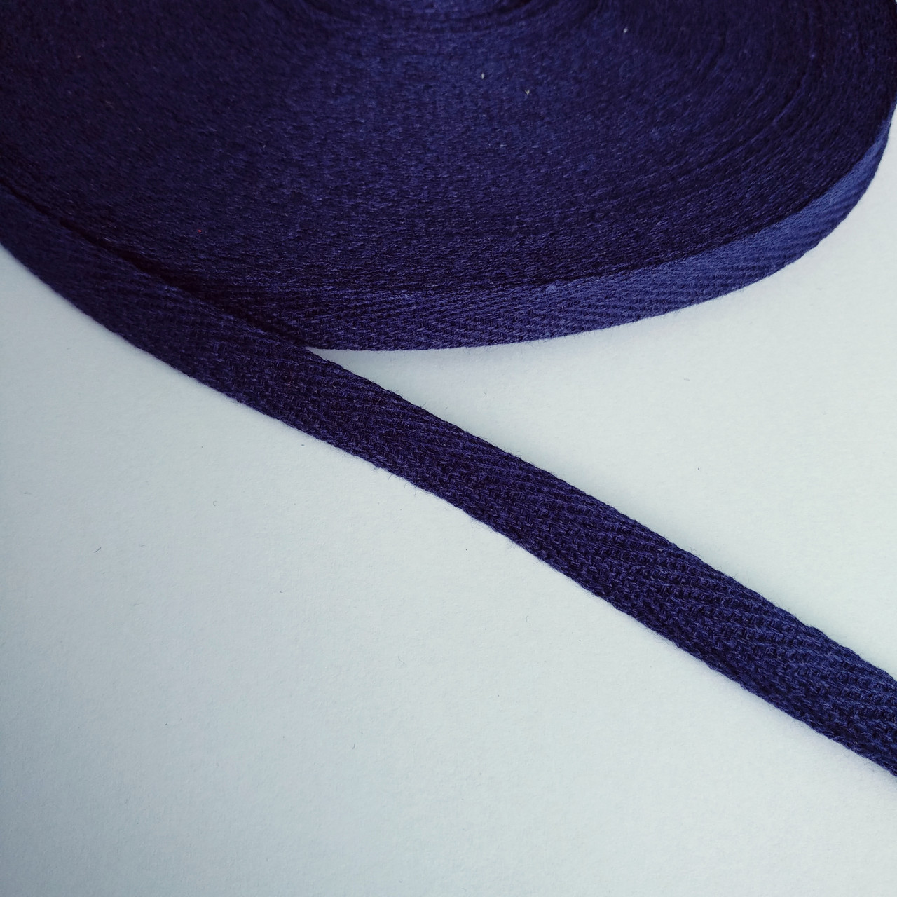 Киперная стрічка хб, 10 мм. темно синя.