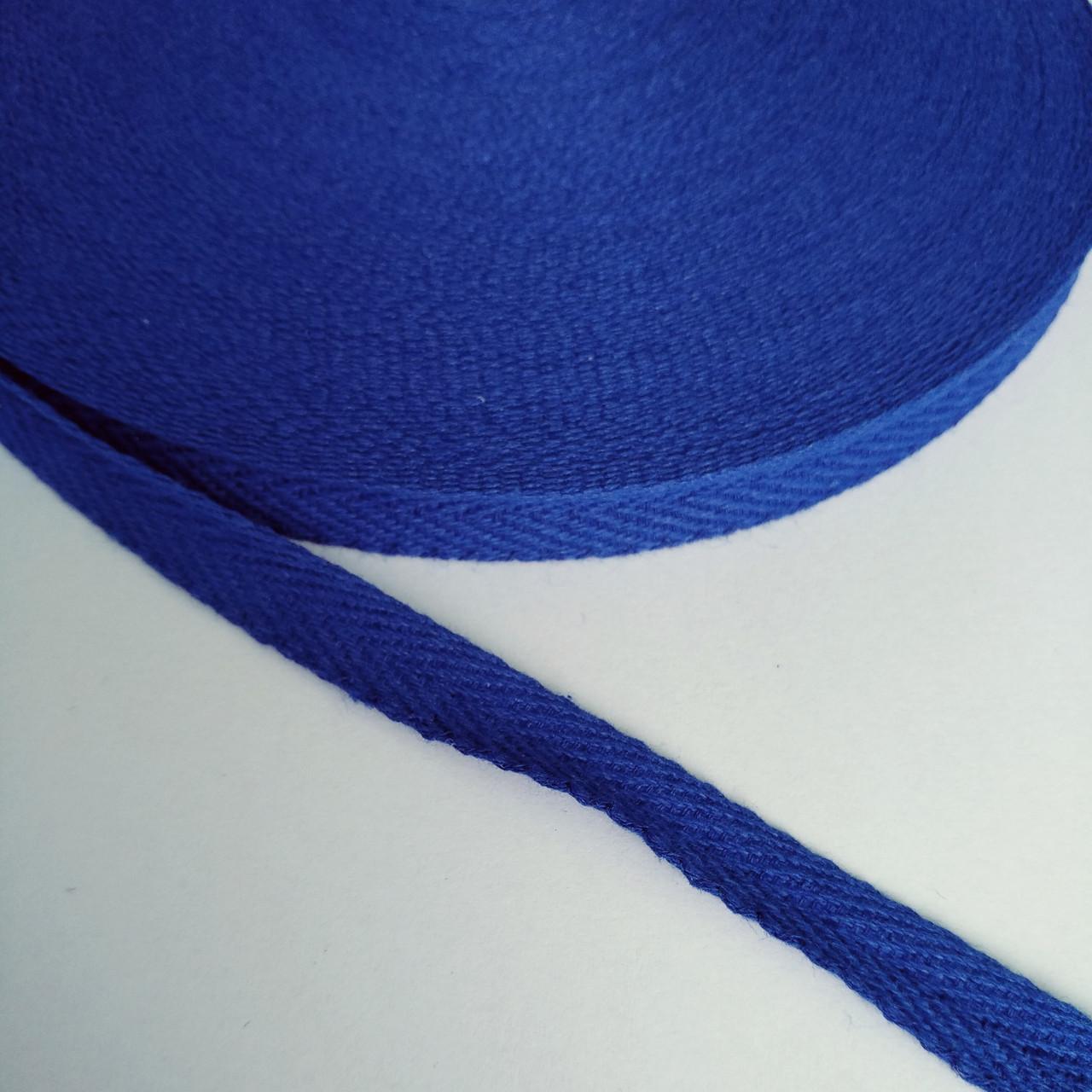Киперная стрічка хб, 10 мм. синя.