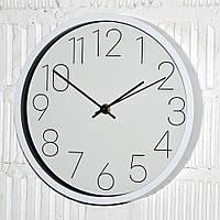 """Настінний годинник безшумні """"White crow"""" (25 см.), фото 1"""