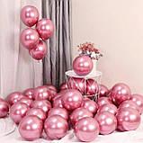 """Шарики воздушные хром ассорти 12""""  1569 розовый, фото 5"""