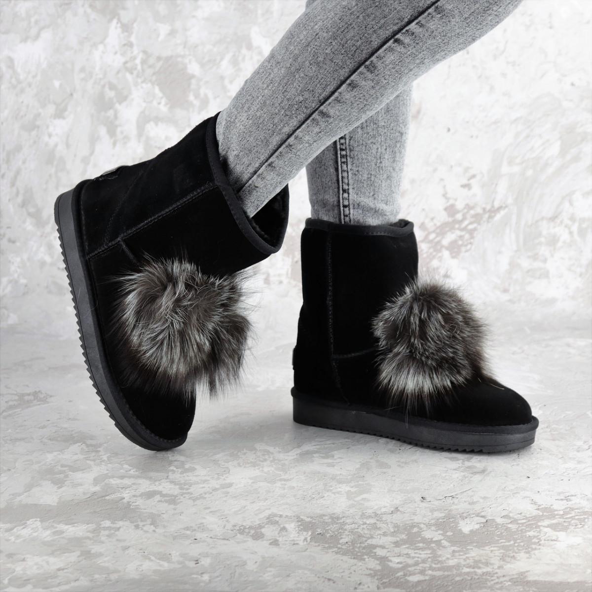 Угги женские Fashion Buford 2337 37 размер 24 см Черный