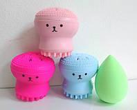 Набір для макіяжу Puffy спонж крапля і щітка для вмивання