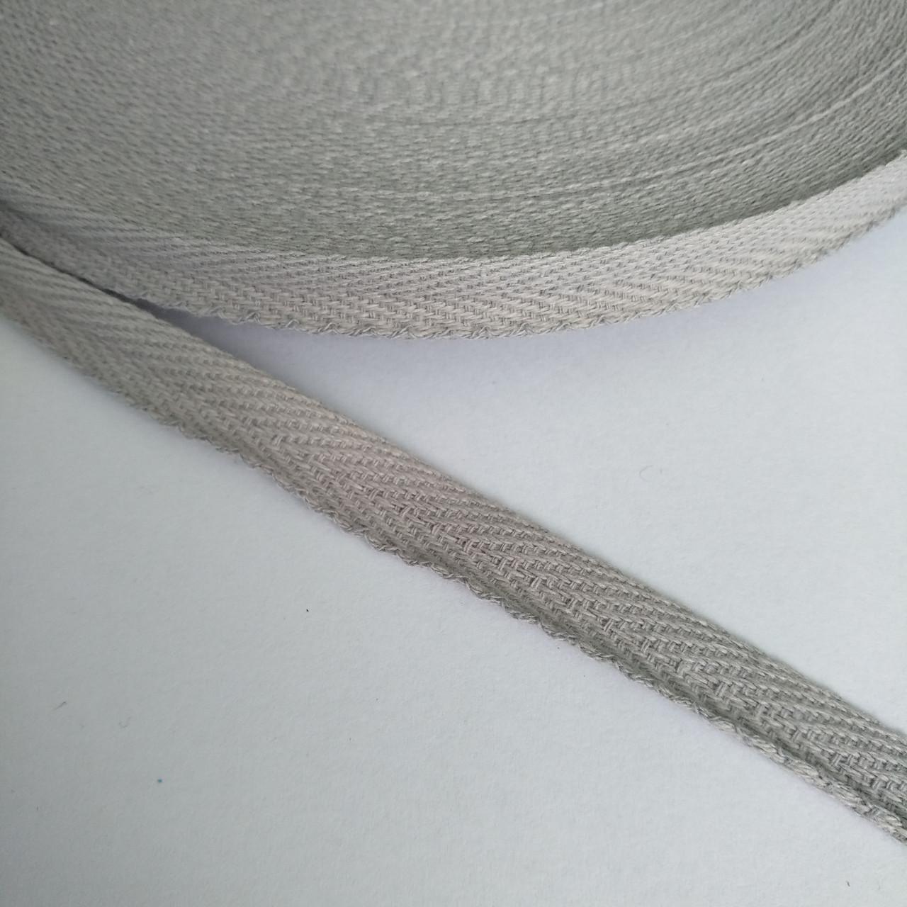 Кіперна стрічка хб, 10 мм. Світло сіра.