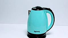 Электрический чайник Rainberg RB-901 с дисковым нагревательным элементом - голубой