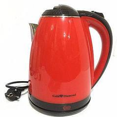 Электрический чайник Rainberg RB-901 с дисковым нагревательным элементом - красный