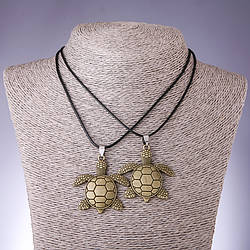 Парный кулон Дружбы Черепахи L-45-48см