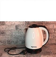 Электрический чайник Rainberg RB-901 с дисковым нагревательным элементом - белый