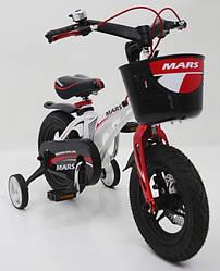 """Детский двухколесный велосипед 12 дюймов магнезиевая рама  """"MARS-12"""" White"""