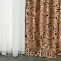 Готовые жаккардовые шторы для зала спальни кухни, шторы с люрексом в комнату зал квартиру, готовые шторы в, фото 3
