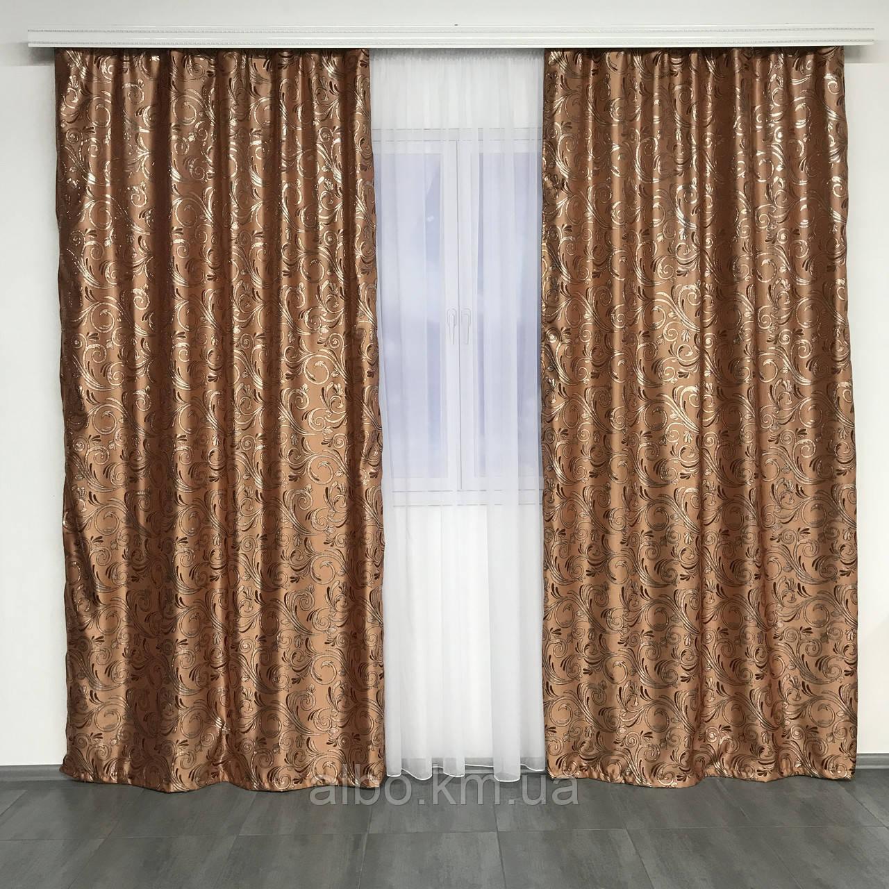 Готовые жаккардовые шторы для зала спальни кухни, шторы с люрексом в комнату зал квартиру, готовые шторы в