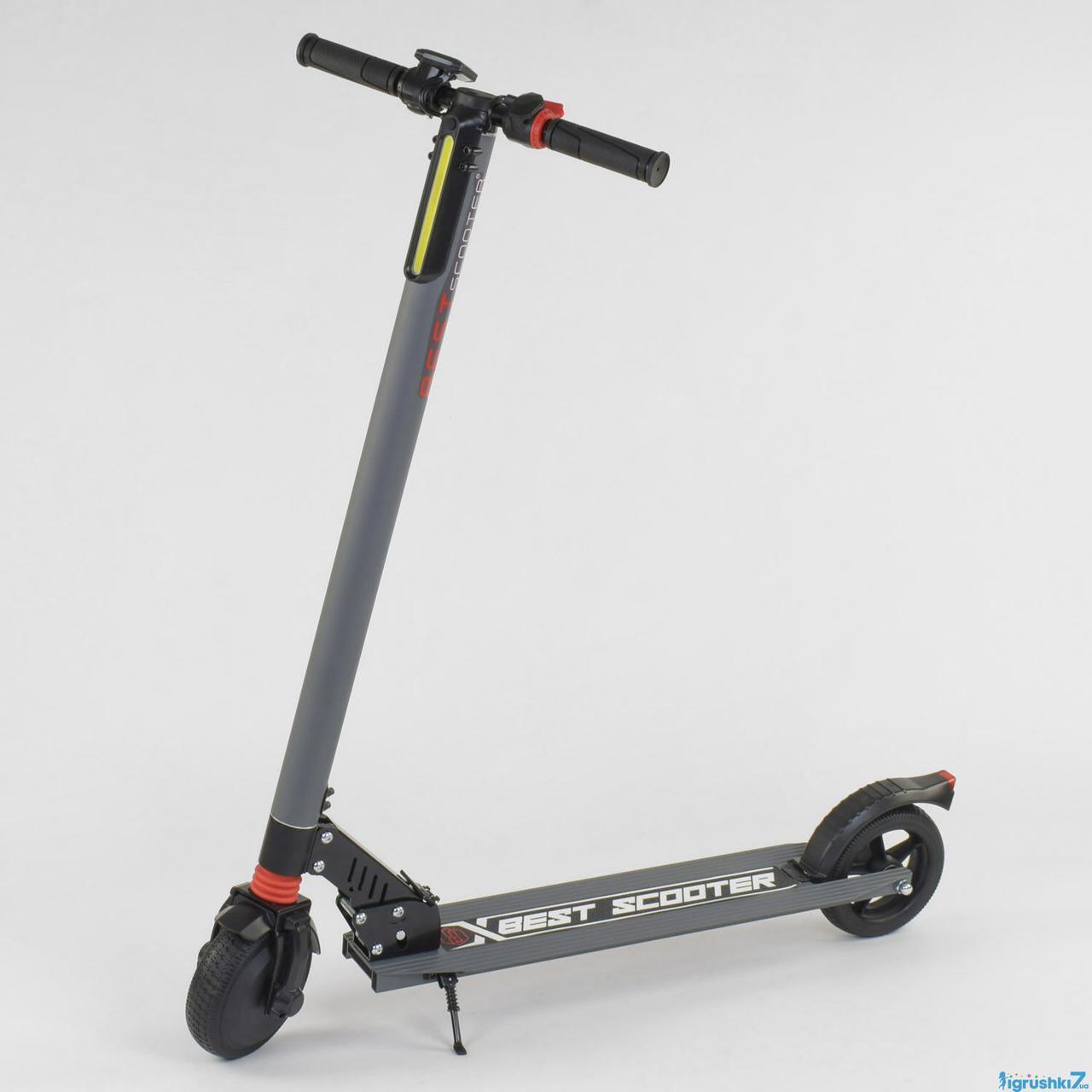 Электросамокат 83325 Best Scooter серый
