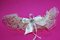 """Свадебная подвязка """"Шампань"""" , фото 1"""