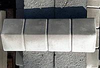 Парапет бетонный для забора (руст)