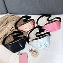 Женская сумка бананка (Кружочки), Черная 1, фото 3