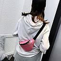 Женская сумка бананка (Кружочки), Серебряная 1, фото 9