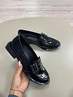 Стильные лаковые Кожаные женские туфли из натуральной кожи