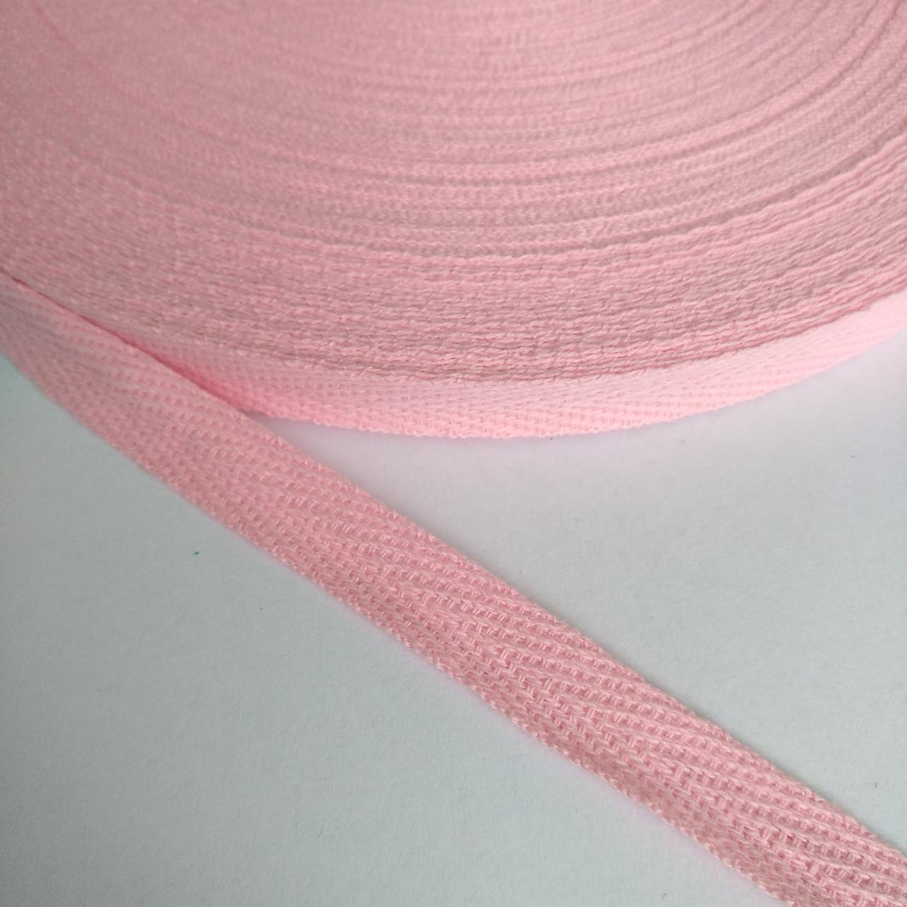 Киперная лента хб, 10 мм. розовая.