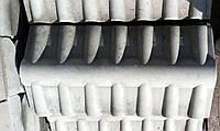 Парапет бетонный для забора (черепица)