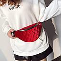 Классическая женская сумка бананка, Красная 1, фото 7