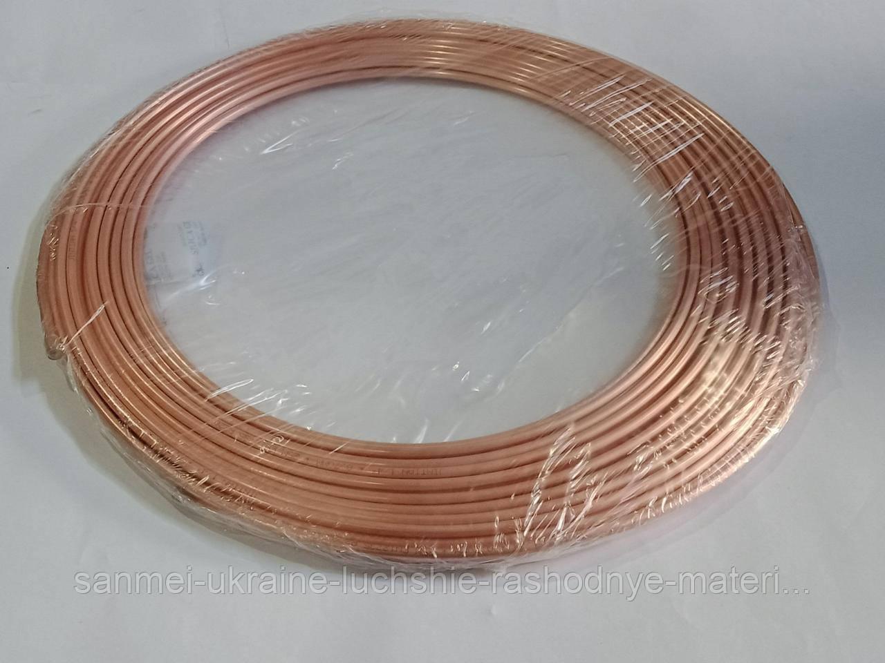 Труба мідна м'яка 1/4 (6,35/0,7 мм) - 25м (Бухта)