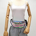 Блискуча жіноча сумка бананка Голограма 4, 1, фото 4