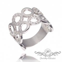 Кольцо серебряное с Фианитами Арт. P1373