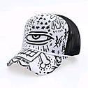 Кепка тракер Глаз с сеточкой Черная, Унисекс, фото 3