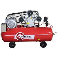Компрессор 100 л, 4 кВт, 380 В, 10 атм, 600 л/мин. 3 цилиндра INTERTOOL PT-0036