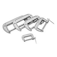 Струбцина INTERTOOL HT-6014, G-образная, длина 50 мм, стальная рукоятка, стальная рама, зажимной механизм