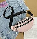 Женская сумка бананка 2, Черная, фото 5