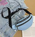 Женская сумка бананка 2, Черная, фото 6