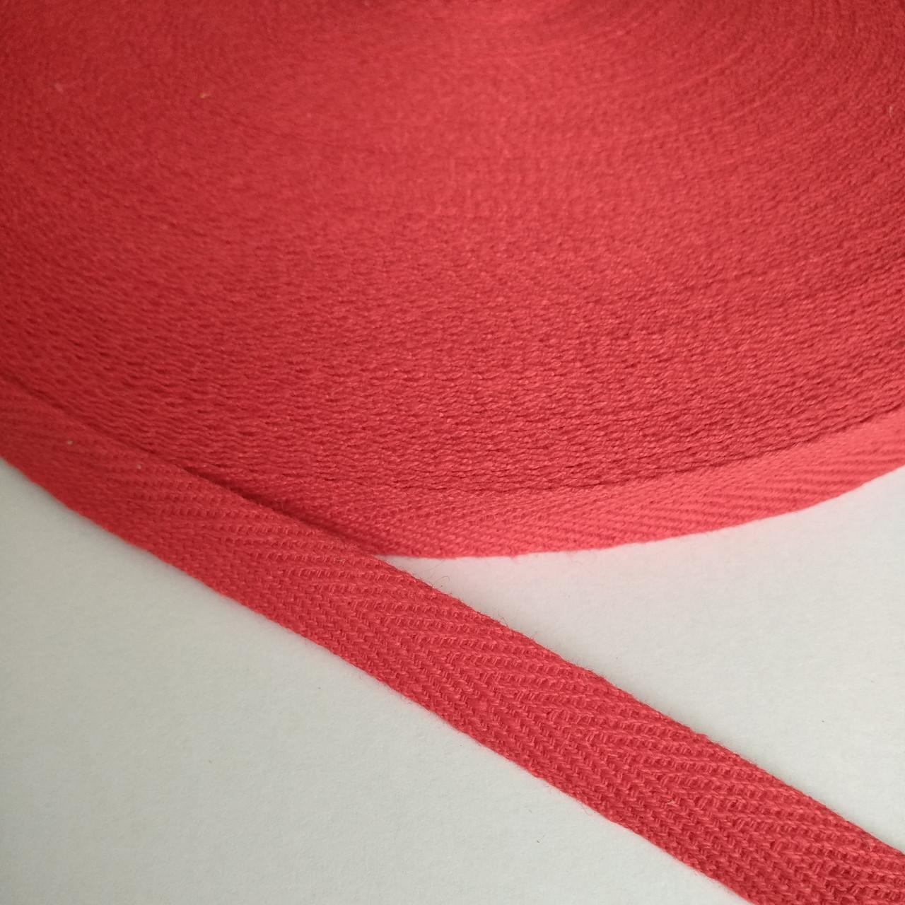 Кіперна стрічка хб, 10 мм. червона.